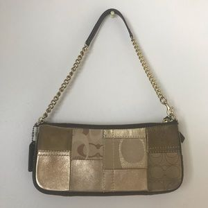 Coach Gold Patchwork Small Shoulder Bag